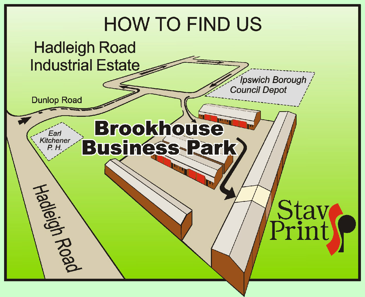 StavPrint How To find Us Map